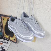 反光运动鞋气垫珠子鞋厚底低帮鞋休闲鞋男跑步鞋3M潮鞋很火