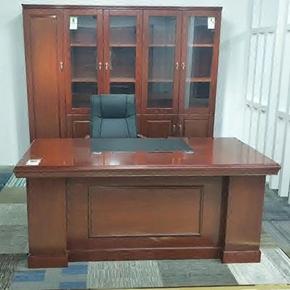 现代中式实木贴皮油漆部门主管经理老板班台办公桌书桌电脑办公桌