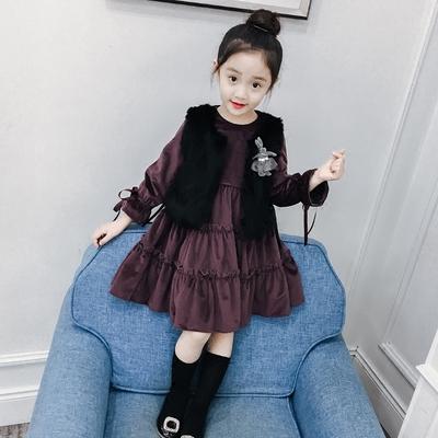 女童套装冬装2017新款韩版儿童中大童加绒加厚洋气外套两件套裙子