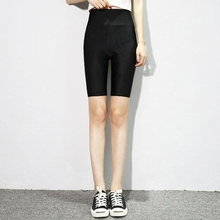 Quarter gloss pants Yoga Pants women in summer slim, tight, high waist and large sports shorts women wear insurance safety