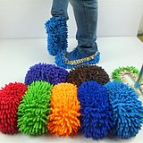 Chenille mop cloth cover Lazy cleaning cloth slippers set Buy 5 pairs to send 1 matching mop rod
