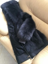 2008 New fox-like fur coat with Parker hat on both sides and thick off-season treatment