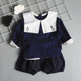 阿路熊婴童装男小童韩版两件套装宝宝洋气服装韩国风1-2-3-4岁潮