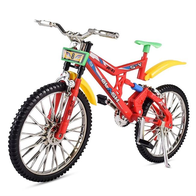 儿童益智小孩自行车越野拼装单车家居办公真车摆饰品。