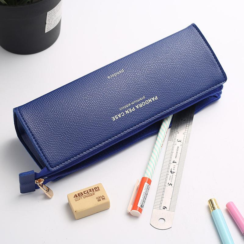 Korean Simple Creative Pencil Bag Girls Senior High School Students, Male and Female Pencil Bags, College Students, Small Fresh and Lovely Stationery Box