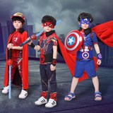 61 Children's Day Cloak Cosplay Costumes Costumes Superman Cloaks Black and Red Halloween Costumes