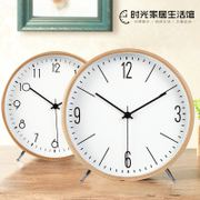 Nordic decoration clock clock modern minimalist creative clock living room bedroom mute large desktop desktop clock