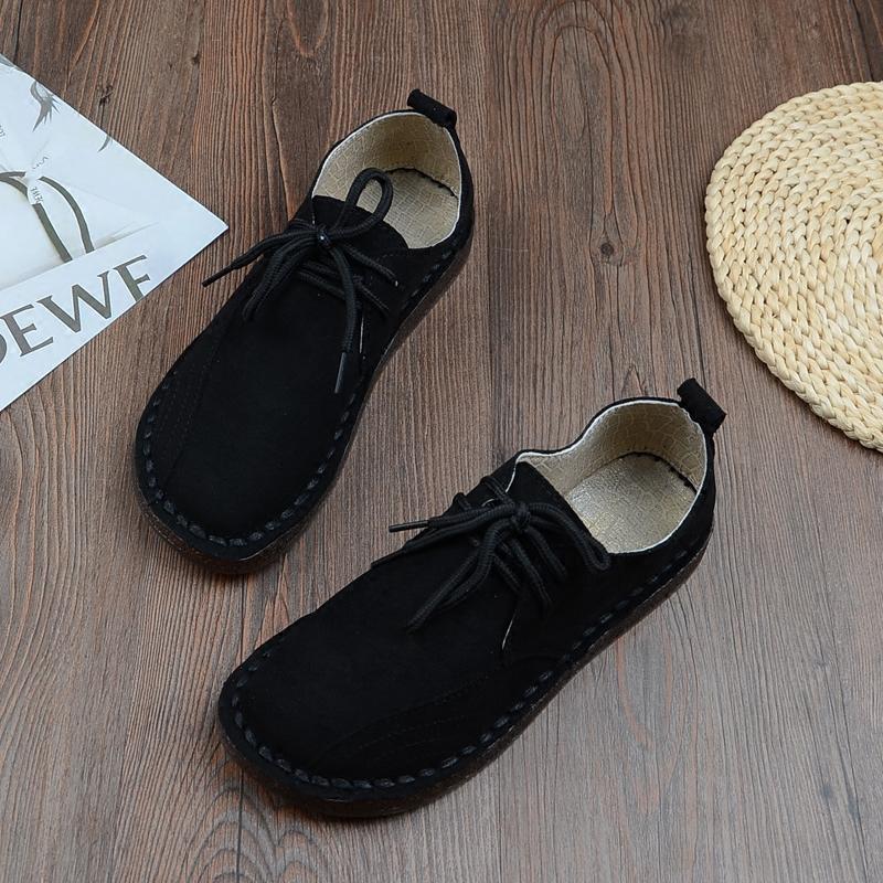 缝帮休闲女鞋