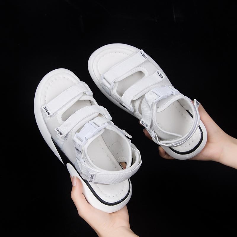 2019夏季新款网红运动平底学生百搭ins时尚超火仙女风凉鞋女潮鞋