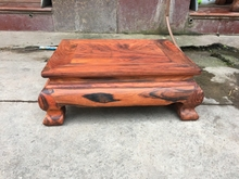 红木家具沙发茶几台老挝大红酸枝交趾黄檀 方型小茶几坑几独板