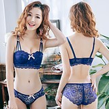 Steel Ring Lace Thickened Small Bra Half Cup Bra Suit Sexy Gathering Girl Student Underwear