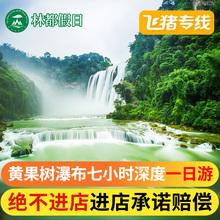 飞猪专线贵州黄果树瀑布陆地头等舱无购物一日游赠送观光车深度游