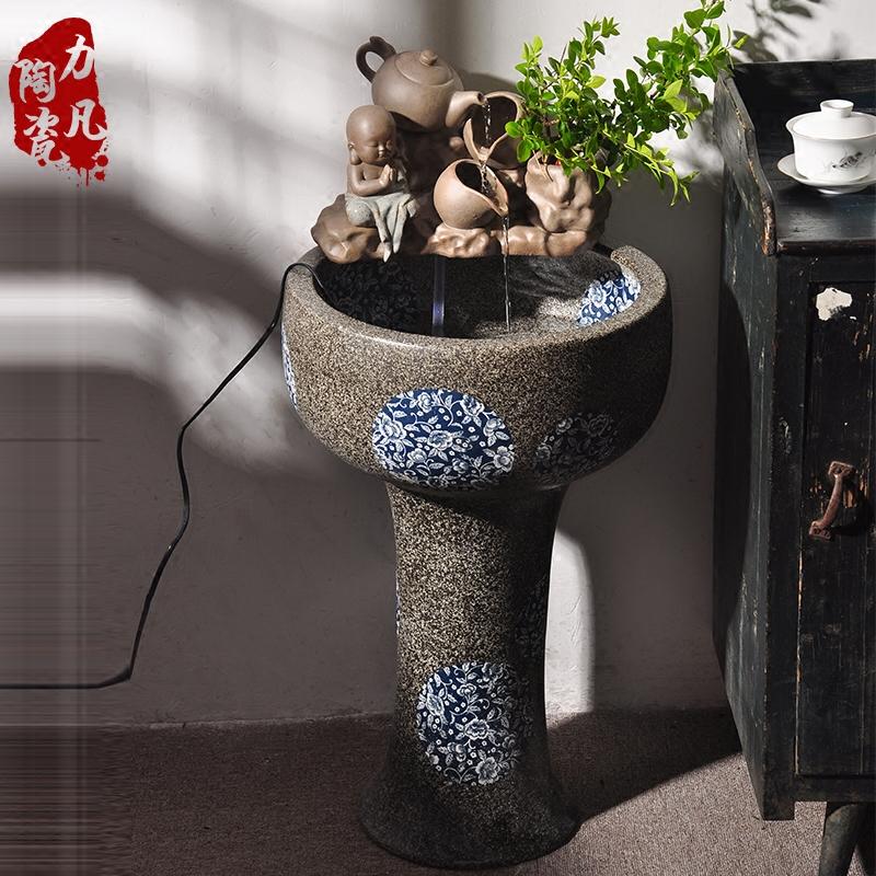 大型流水摆件客厅陶瓷