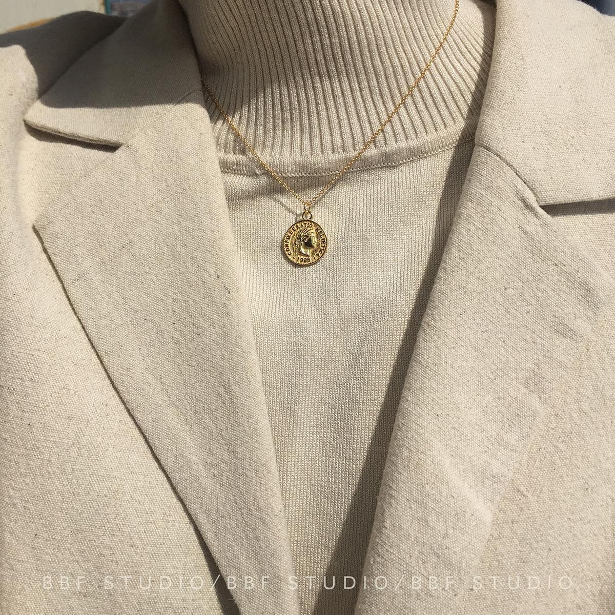 925纯银复古项链吊坠
