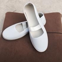 橡胶底女鞋布鞋女士鞋平底工作帆女鞋透气低跟防滑懒人单鞋子