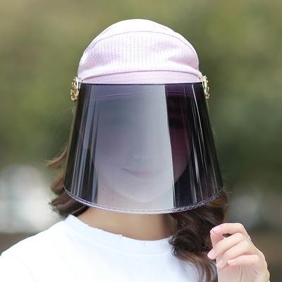 夏季骑车遮阳帽防紫外线女士太阳帽夏天骑电动车防晒遮脸空顶帽子排行