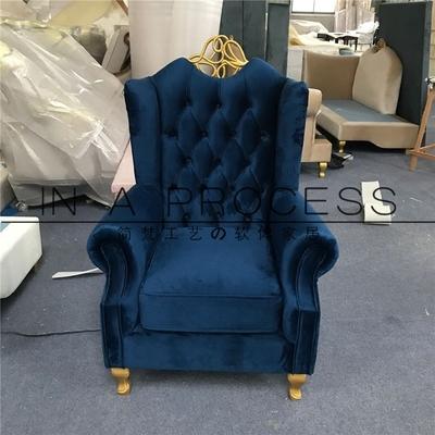 新古典单人沙发欧式客厅老虎椅高背布艺沙发椅高端别墅样板房家具