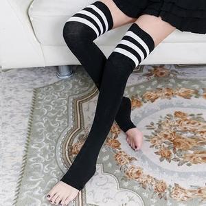 春棉踩脚防晒袜套硅胶防滑空调房保暖护膝长筒袜过膝袜女 高筒袜