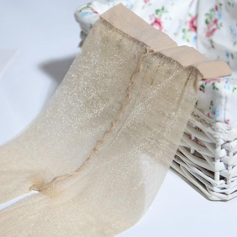 3双包邮光泽丝袜0D一线裆银葱连裤袜超薄微闪炫彩金丝透明珠光袜