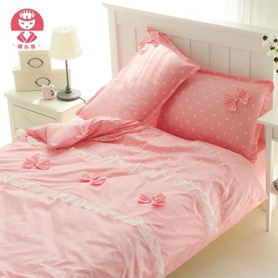 缇乐思韩版全棉学生宿舍公主风单人床被套宿舍纯棉学生三件套床品