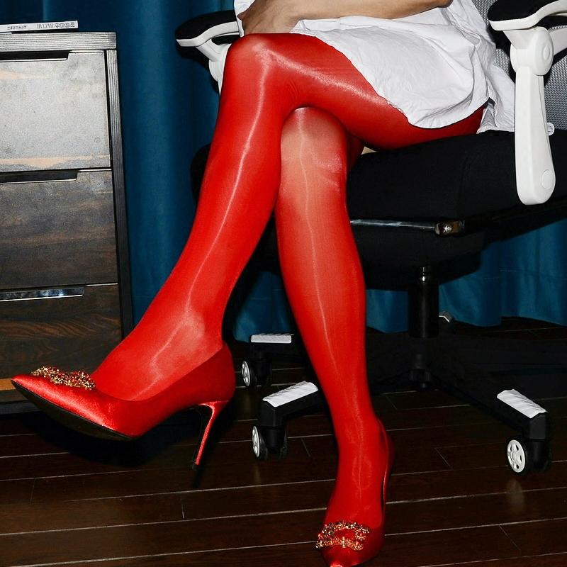 油亮神裤新婚丝滑连裤袜无脱后入性感丝袜男士开裆丝袜女袜子