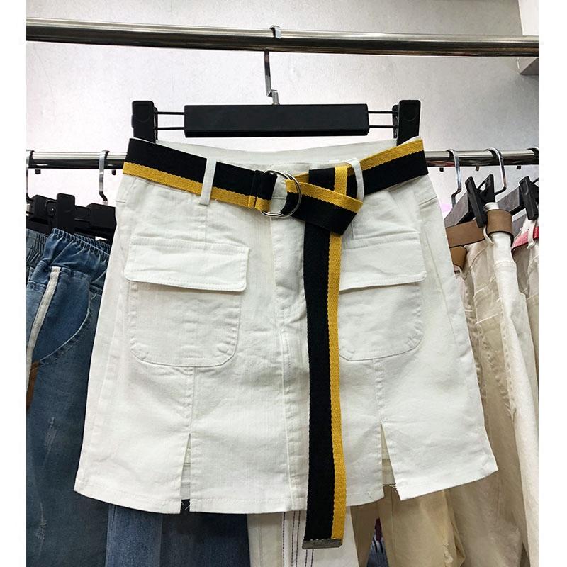 口袋棉弹短裙
