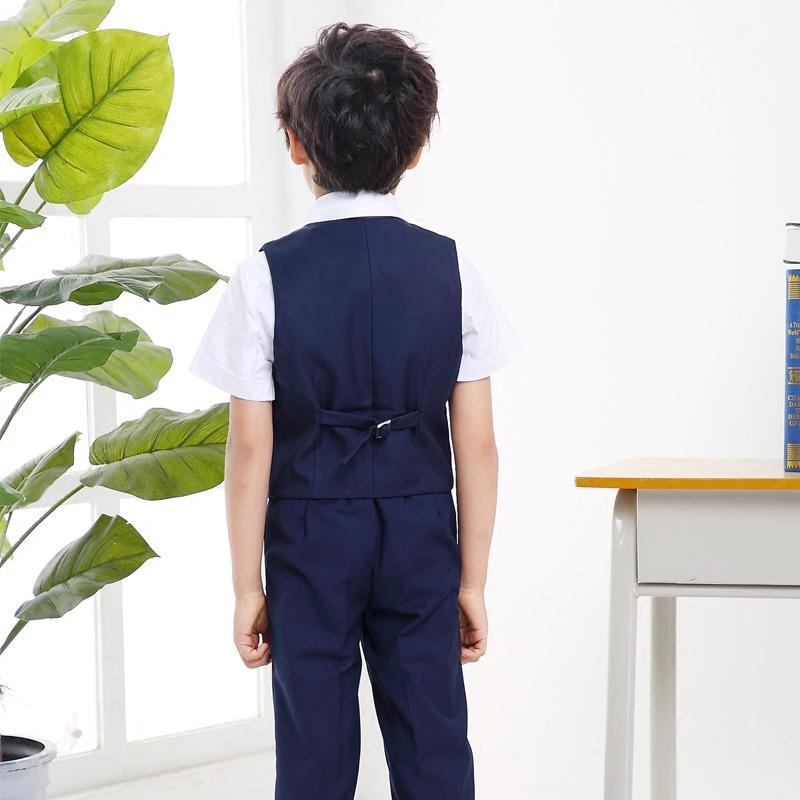 男童礼服马甲套装花童男孩主持人儿童表演西装大童钢琴演出小西服