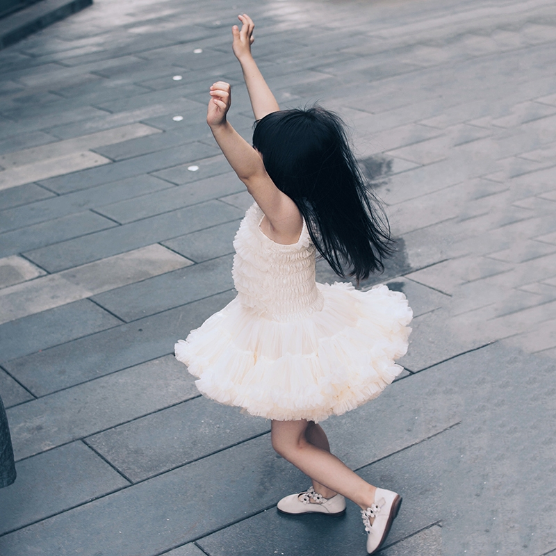 女童tutu连衣裙夏儿童蛋糕蓬蓬纱裙宝宝公主裙子婴儿周岁礼服春秋
