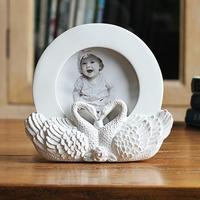 4寸天鹅定情之吻爱心创意相架可爱宝宝相框摆台摆件