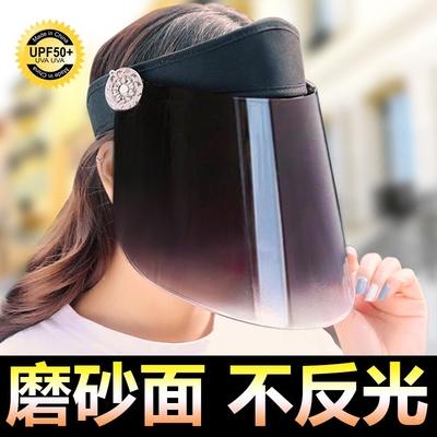 遮阳帽女士防晒帽子遮脸防紫外线夏季户外骑车百搭男电动车太阳帽
