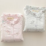 Sweet rabbit children pajamas girls spring and autumn models cotton gauze long sleeve suit air conditioning suit cotton home service