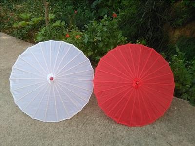 包邮舞蹈伞跳舞伞古典舞表演道具伞大红伞油纸伞COS花伞飘带伞