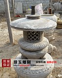 Stone stone lamp. Antique stone lantern. Bluestone stone lamp. Stone lantern. Stone carving decoration. 024