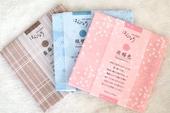 包邮 手绢 纯棉超薄柔软 日本制山本仁女士手帕 2件 日本传统色