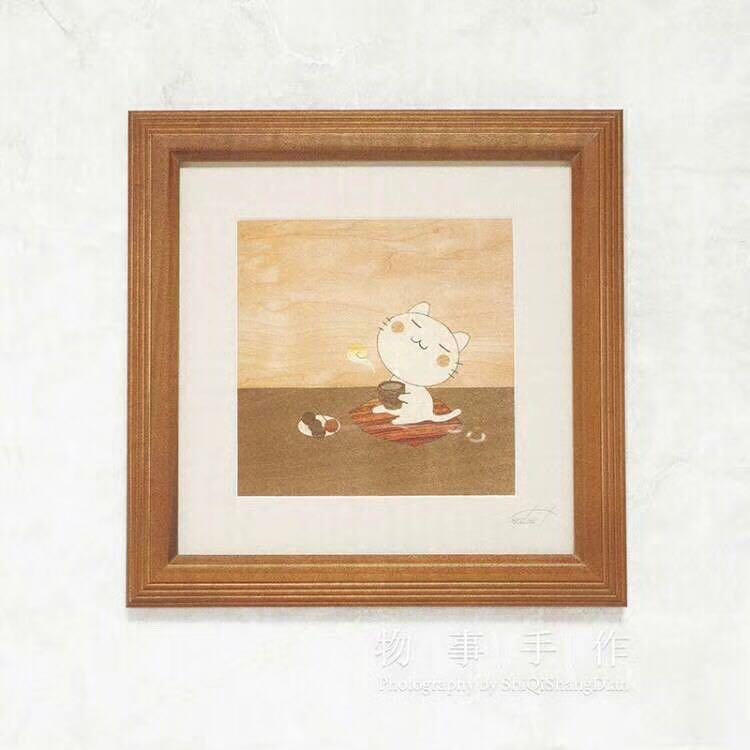 日本木镶嵌工艺画日式纯手工拼接客厅玄关壁画创意挂画实木装饰画