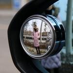 汽车后视镜小圆镜盲点镜倒车360度可调节广角辅助镜反光高清视野