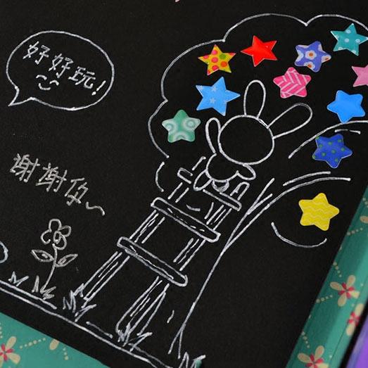 创意爱心星星水晶贴 手工相册diy制作装饰贴纸手账本日记本贴画