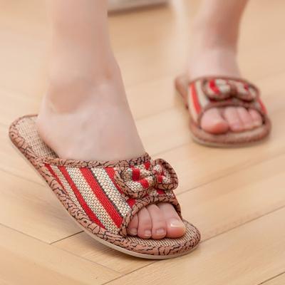 包邮棉麻亚麻拖鞋居家用室内木地板防滑情侣男女牛筋底夏季凉拖鞋