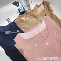 摩妮卡胖mm2018夏装新品宽松显瘦百搭多色大码女装圆领短袖上衣