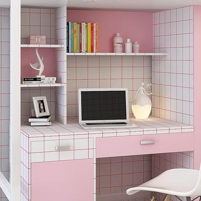 自粘墙纸黑白格子卧室客厅简约壁纸大学生宿舍寝室桌子翻新贴纸