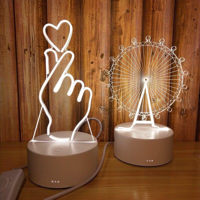 Telephone Fee Creative Night Light Plug-in LED Bedside Lamp Feeding Birthday Gift Romantic Table Lamp Bedroom Student Dormitory
