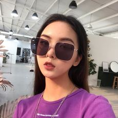 08cf8d9a7e Zhou Yangqing with the retro retro hipster wild box sunglasses female  students Korean version of the