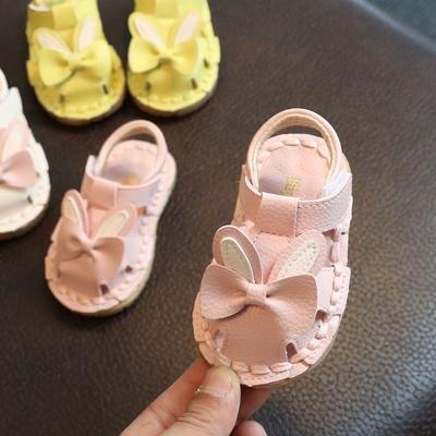 宝宝学步鞋 凉鞋夏季婴儿凉鞋0-1岁韩版女童鞋子软底包头公主鞋