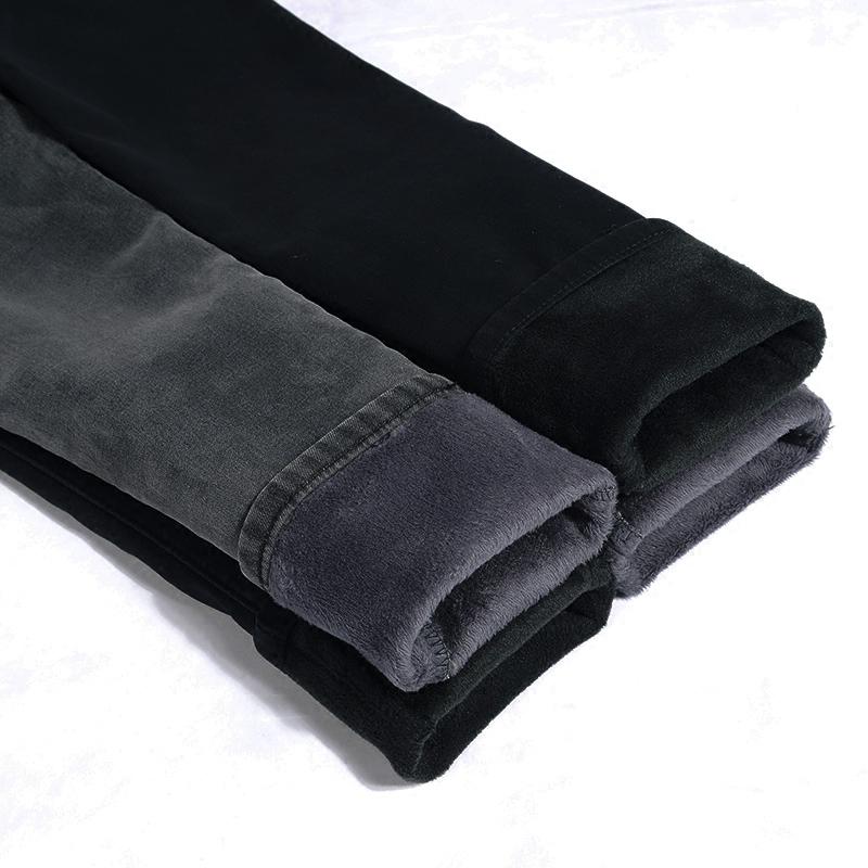 天天特价显瘦高腰灰黑色牛仔裤女加绒加厚大码小脚铅笔长裤子冬季,牛仔裤女款