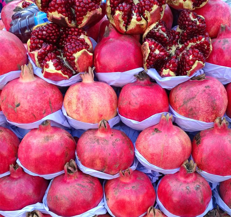 新疆和田皮亚曼石榴超甜超大新鲜多汁4斤一箱航空包邮胜蒙自