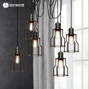 设计师的灯美式乡村工业复古创意欧式餐厅吧台客厅六头小铁架吊灯