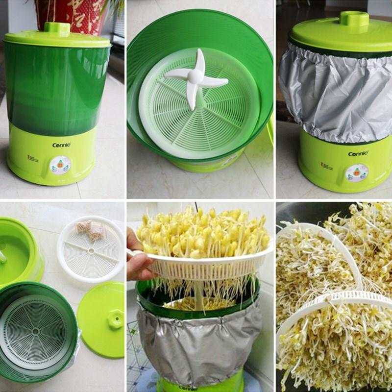 生豆芽机家用全豆芽自动机特价菜芽苗黄豆芽罐发芽神器纳豆酸奶机