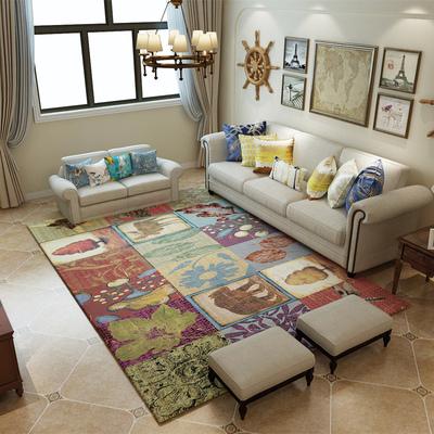 复古美式乡村北欧宜家地毯客厅茶几沙发地毯卧室满铺床边地毯家用最新最全资讯