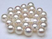 山下湖天然淡水珍珠颗粒 7-8.0MM圆形AAA级天然淡水珍珠颗粒散珠