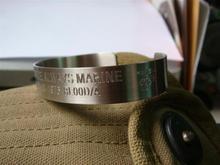 私人订制美军追思手环追思环任意刻字环身份环永不磨损